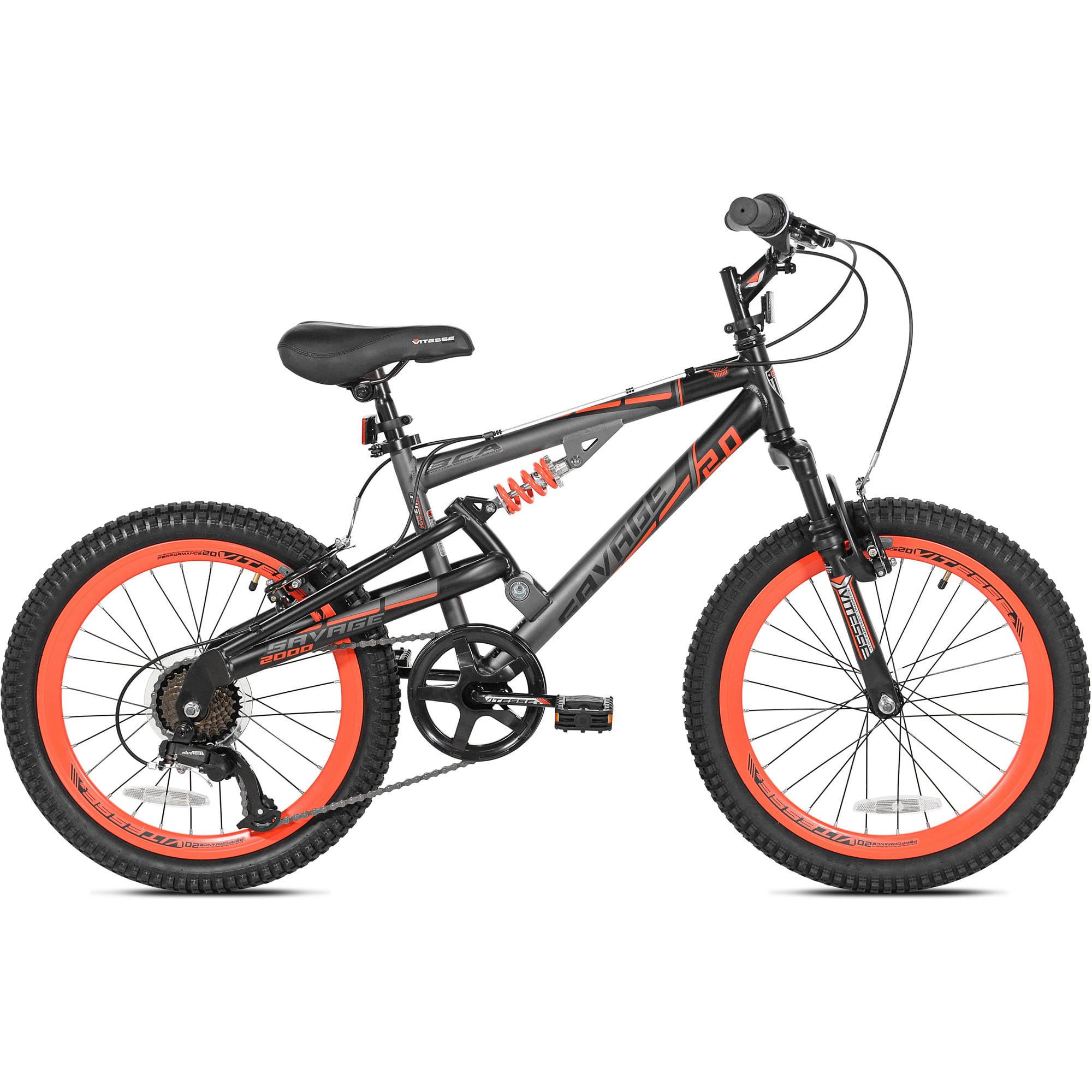 Bca 20 Boys Savage 2 0 Bike Gray Orange For Ages 8 12 Walmart Com