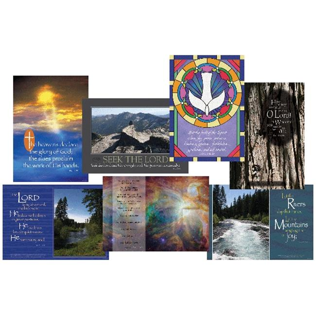Barker Creek BC-1898 Spiritual Poster Set ��� Eight Posters