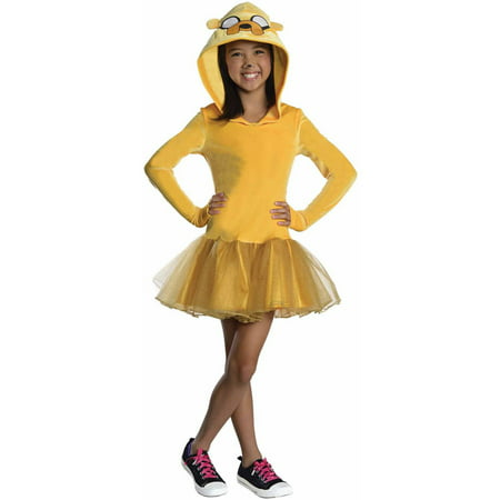 Adventure Time Jake Girl Child Halloween Costume](Halloween Time)