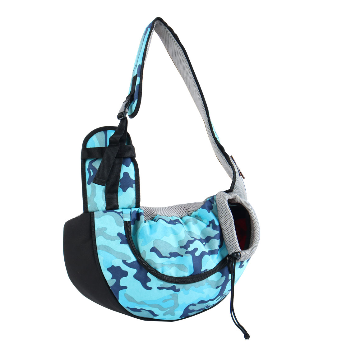 Onding Authorized Pet Dog Carrier Single Shoulder Backpack Blue Camo