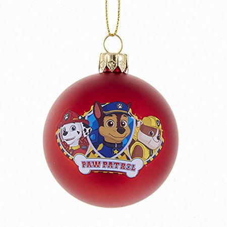 60 mm paw patrol characters shatterproof ball christmas ornament