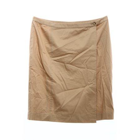LAUREN RALPH LAUREN $115 NEW 9861 Straight Twill Wrap Womens Skirt (Twirl Skirt)