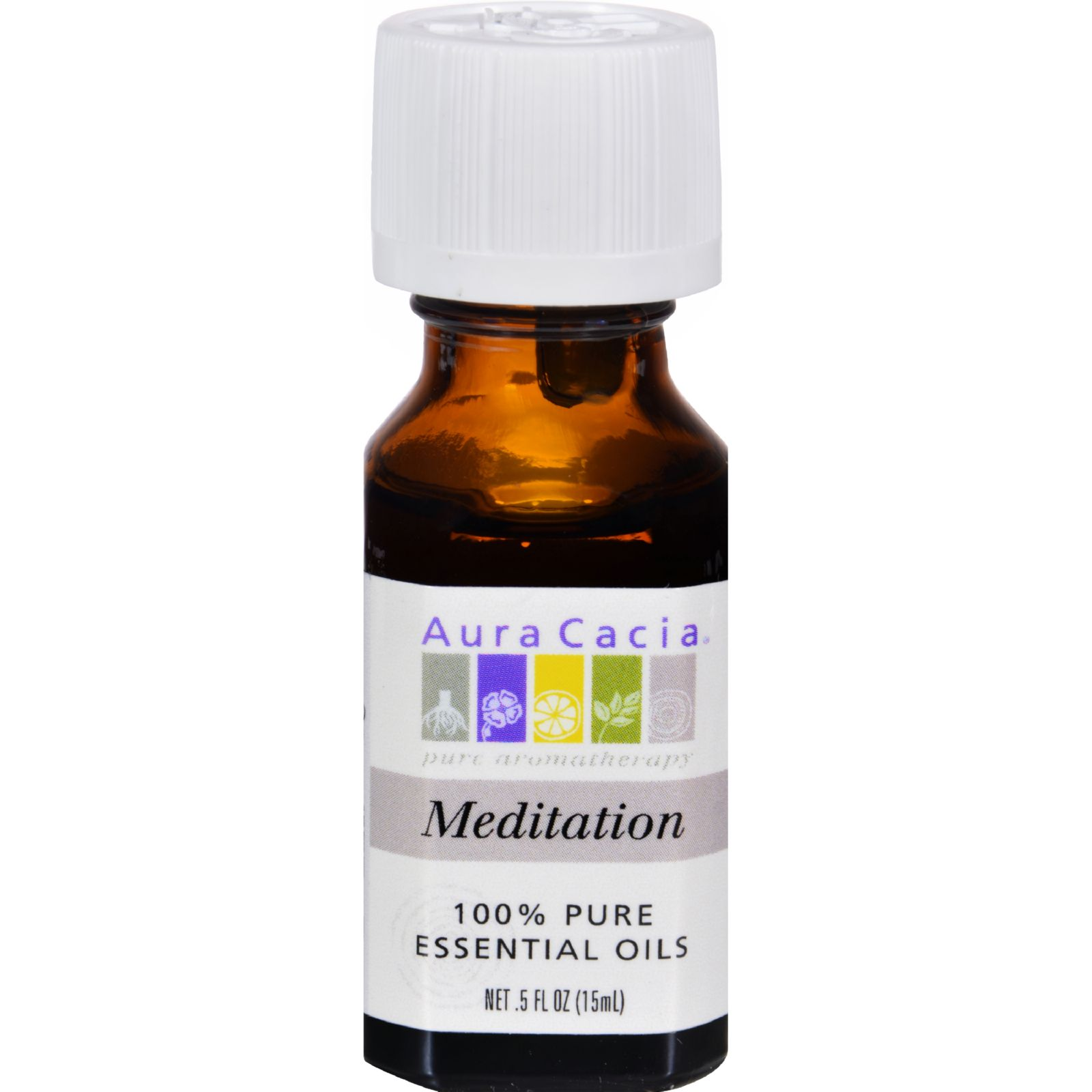 Aura Cacia Essential Oil Blend Meditation - 0.5 fl oz