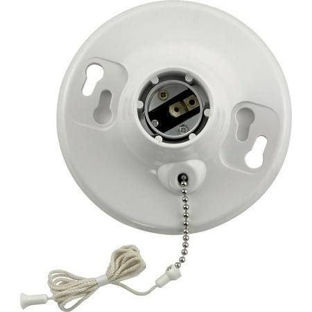 Medium Fluorescent Chain - Leviton Plastic Pull Chain Lampholder Pull Chain Single Circuit 250 V Medium White
