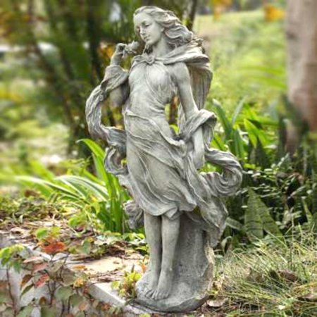 35 whimsical girl in the wind outdoor patio garden statue for Whimsical garden statues