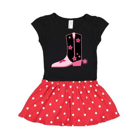 Cute Western Cowboy Boot Toddler Dress