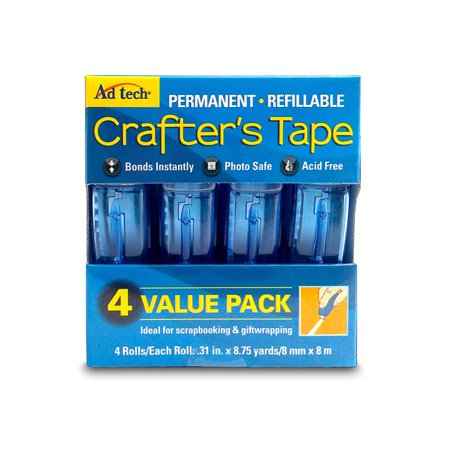 Ad-Tech Permanent Crafter's Tape, 0.31 by 315-Inch, 4 Per Package, BEST BANG FOR YOUR BUCK - AdTech glue runners are more economical than mostWalmartpeting.., By