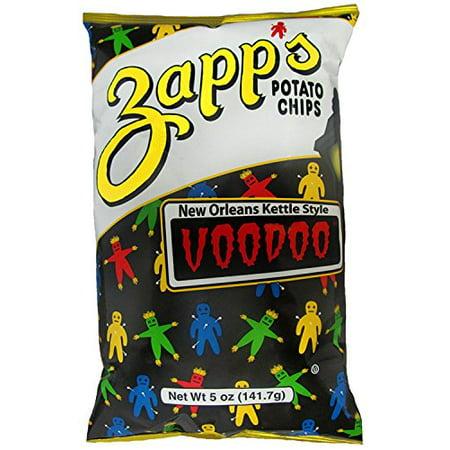 Zapp's Kettle Style Potato Chips - Voodoo Flavor - 5 Oz. (6 Bags)