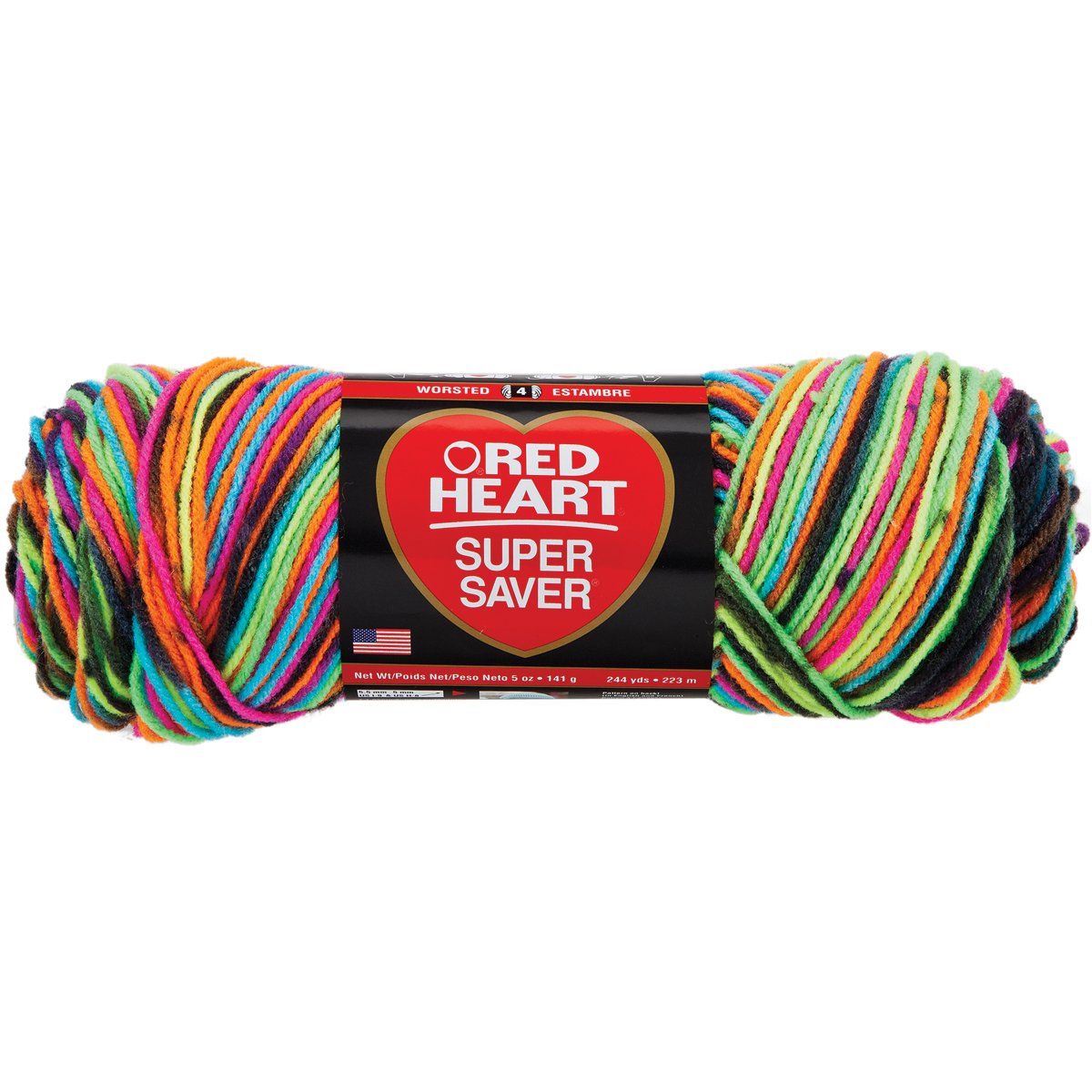 Red Heart Super Saver Yarn Blacklight