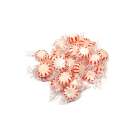 Arcor Red & White Peppermint Starlights | White Center | Twist Wrap Mints | 4 pounds ()