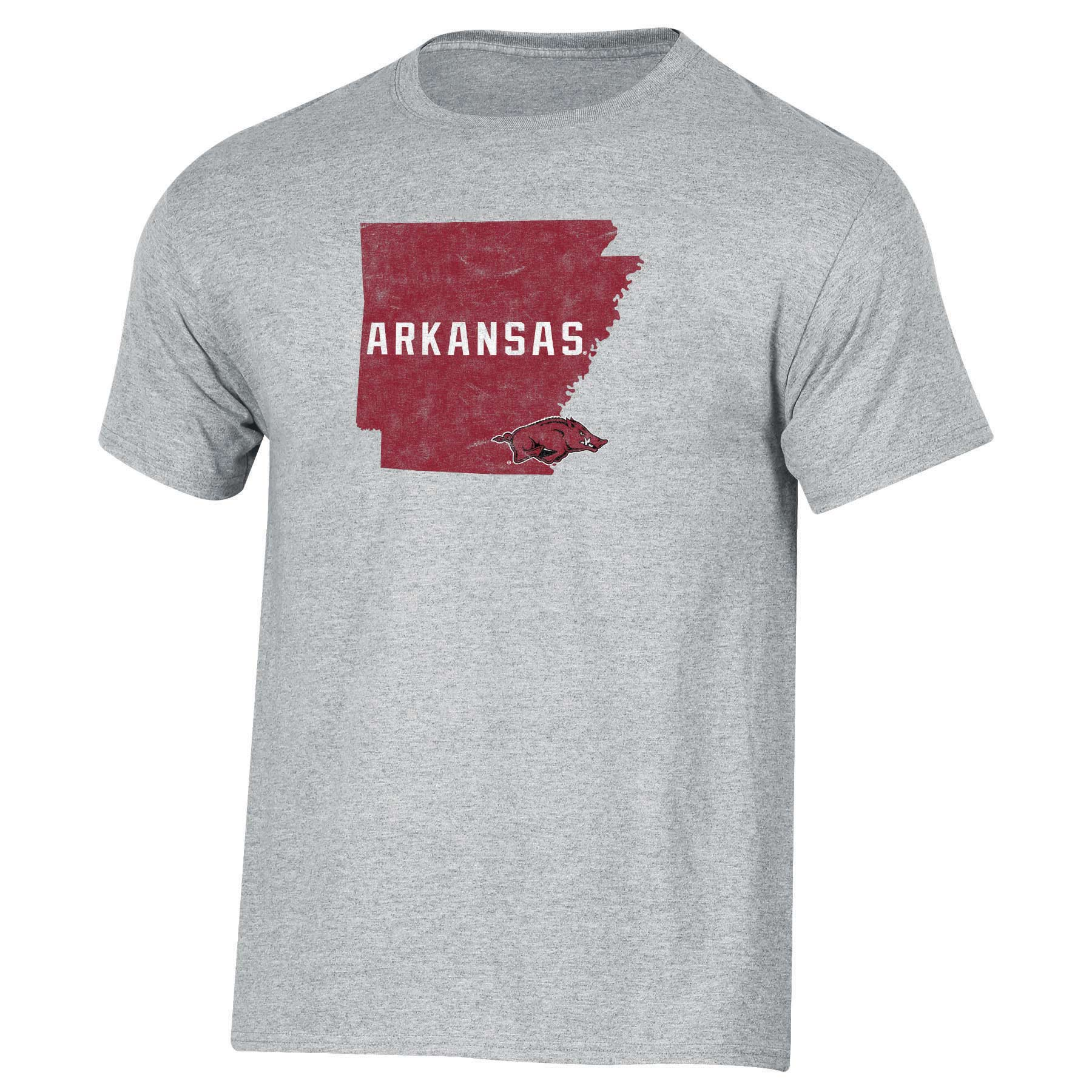 Men's Russell Heathered Gray Arkansas Razorbacks Inner-State T-Shirt