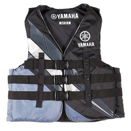 Yamaha Marine New OEM Unisex PFD Nylon 3 Buckle Life Jacket, Medium, Black Iii Marine Life