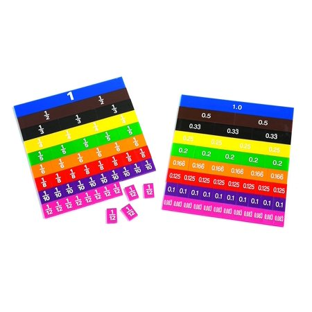 7673 Color-Coded Fraction and Decimal Tiles (Pack of 51) By Learning Advantage