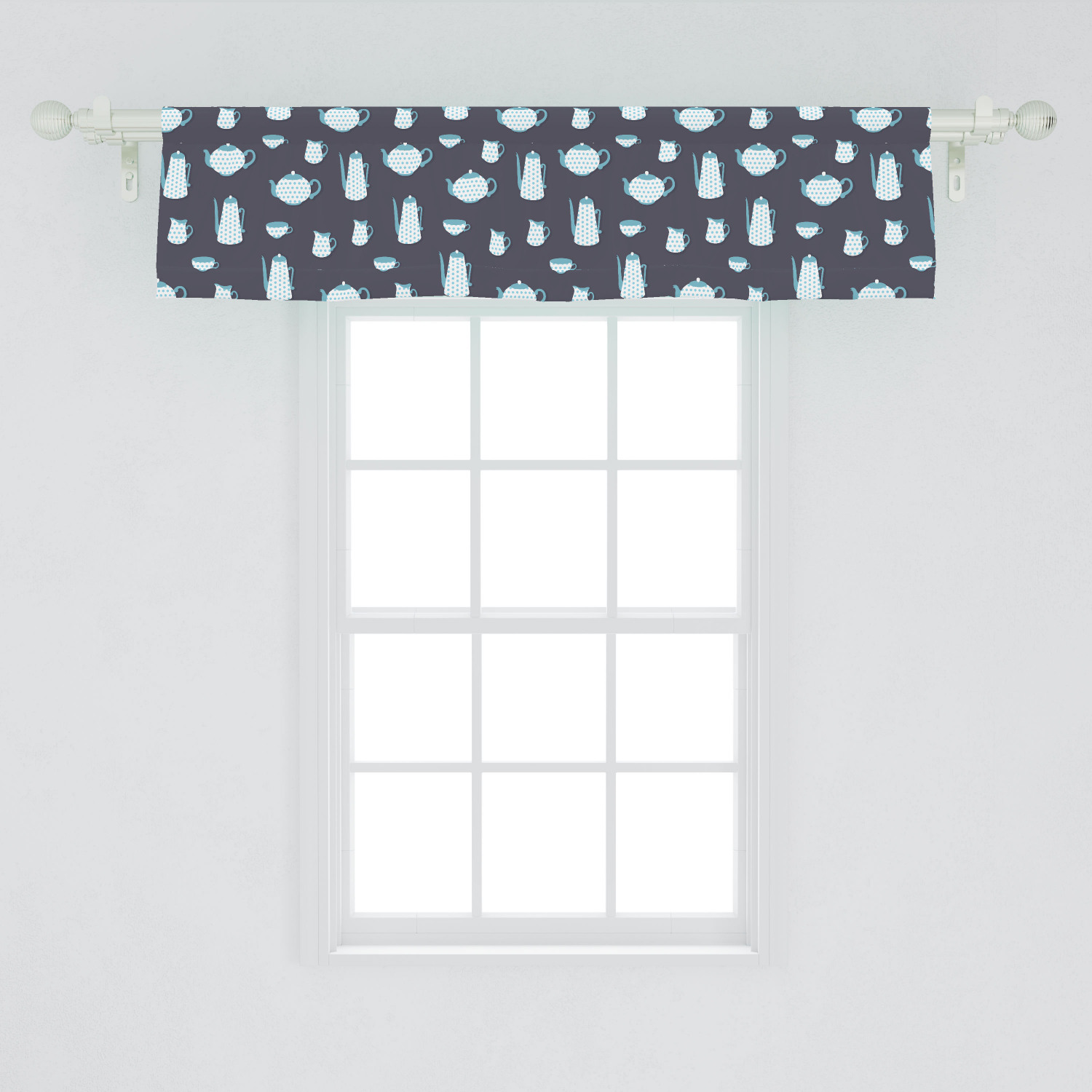 Handmade Products Mickey Mouse Black White Polka Dot Bedroom Window Valance Topper Decor Treatment Home Kitchen