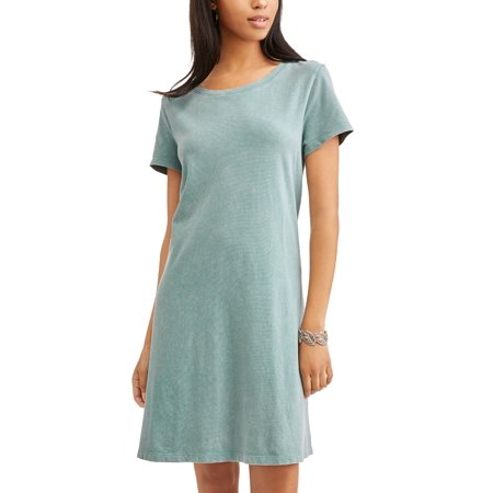 30038eeabb6 Time and Tru - Women s Essential T-shirt Dress - Walmart.com