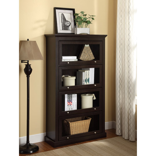 Ameriwood Home Alton Alley 4 Shelf Barrister Bookcase, Espresso by Altra