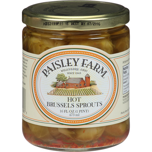 Paisley Farm Hot Brussels Sprouts, 16 fl oz, (Pack of 12)