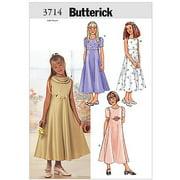Butterick Pattern Girls' Dress, (7, 8, 10)