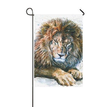 YUSDECOR Lion Garden Flag Outdoor Flag 12x18 inch - image 1 of 1