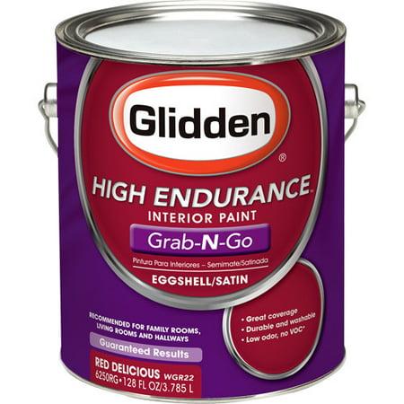 Glidden High Endurance Grab N Go Interior Eggshell Satin Red Delicious
