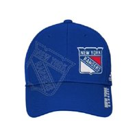 New York Rangers adidas On-Ice Second Season Structured Flex Hat - Blue