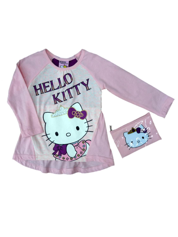 Hello Kitty Girls & Toddler Pink Princess Shirt & Coin Purse 2 Piece Set