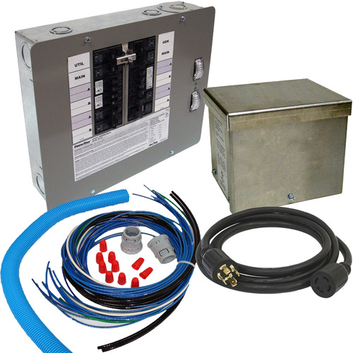 Generac 30-Amp 10-16 Circuit Manual Transfer Switch Kit for Portable Generators (CARB Compliant)