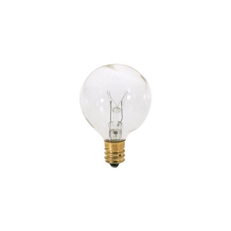 02 Candelabra (satco s3844 120v pear candelabra base 10-watt g12.5 light bulb, clear 5 pk bundle)