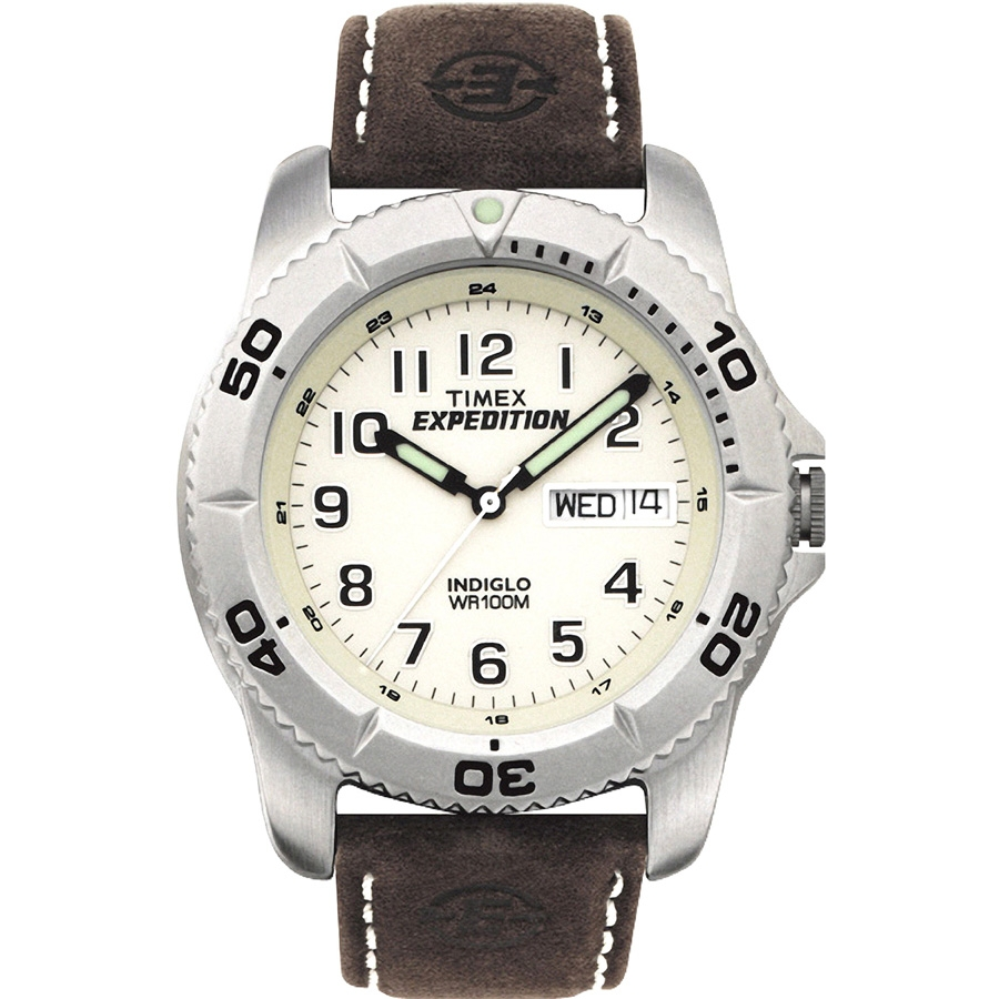 Timex Men's Expedition Traditional Watch, Brown Leather Strap by Timex Corporation