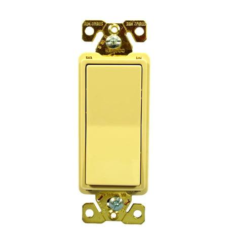 Cooper 7623V Ivory Spec Grade Three Way Decorator Rocker Light