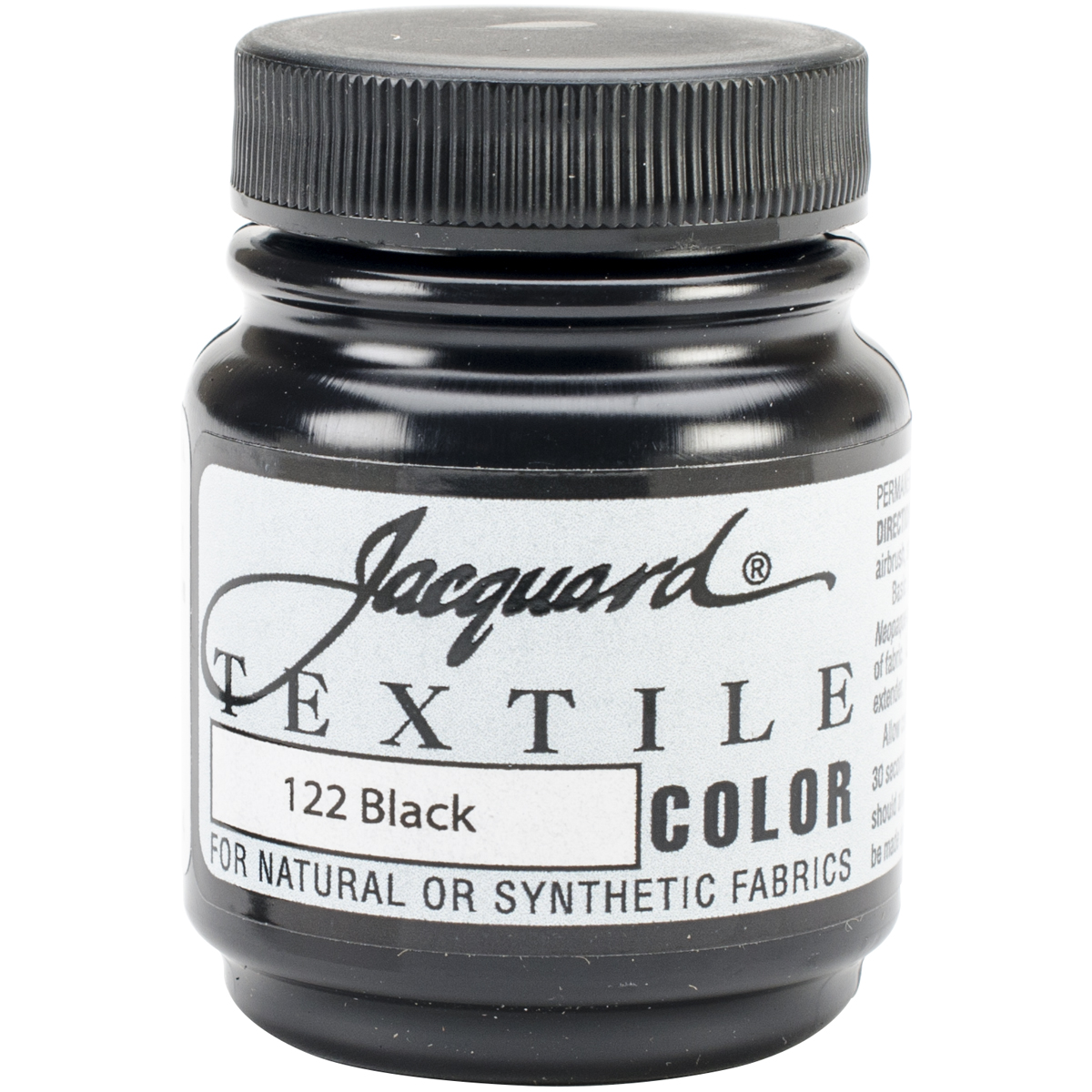 Jacquard Textile Color Fabric Paint 2.25oz-Black
