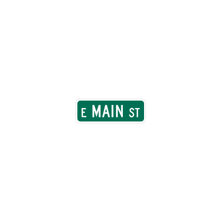 Traffic Signs - Street name sign, MUTCD D-3 12 x 18 Peel-n-Stick Sign Street Weather Approved
