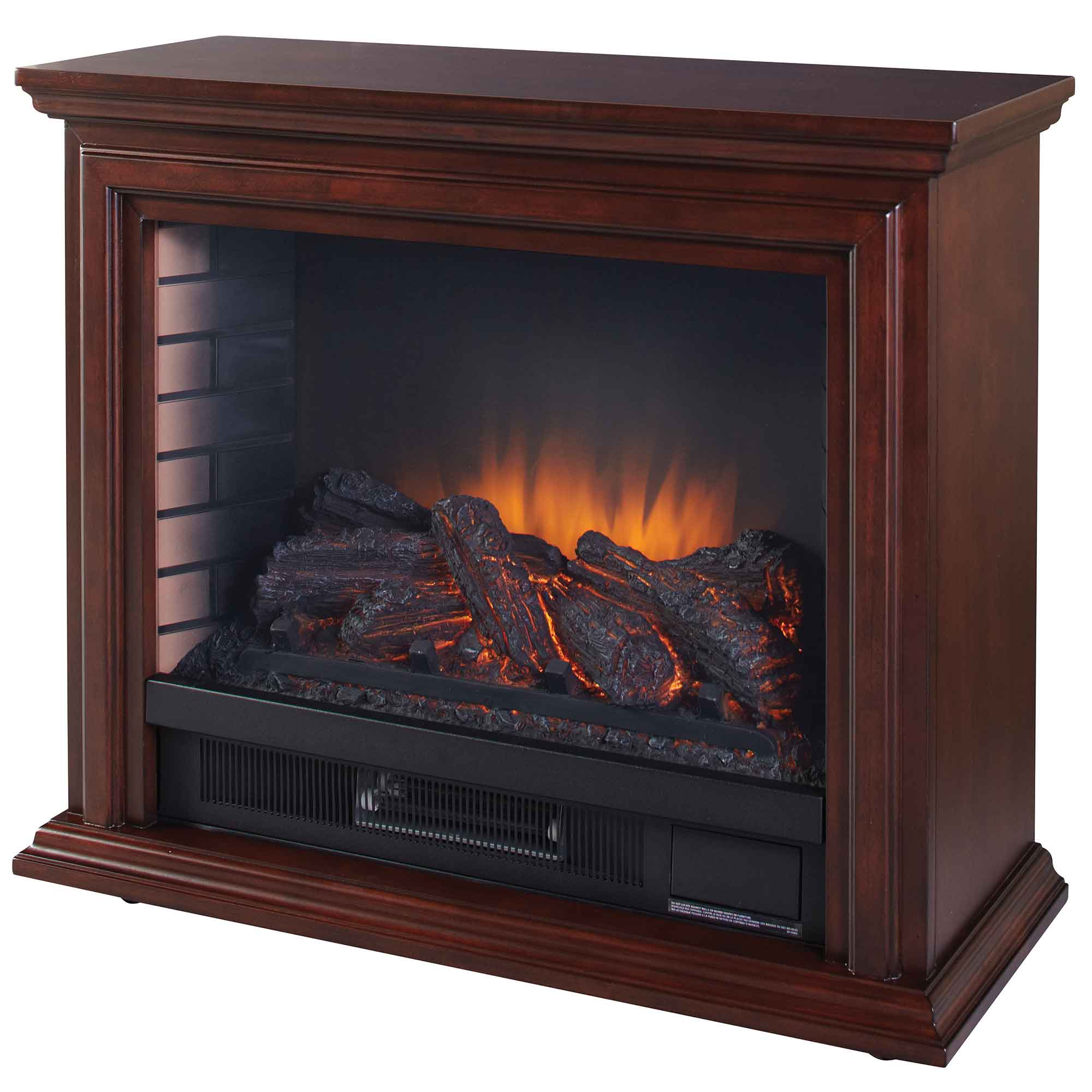 Pleasant Hearth GLF-5002-68 Sheridan Mobile Infrared Fireplace - Cherry