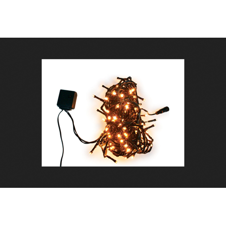 Celebrations Euro 120 LED 8 Function Euro Lighted orange Halloween Lights 9 ft. L 1 - Halloween Celebrations In Atlanta 2017