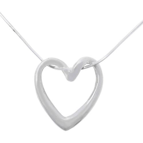 """Brinley Co. Sterling Silver Loop Heart Pendant, 18"""""""