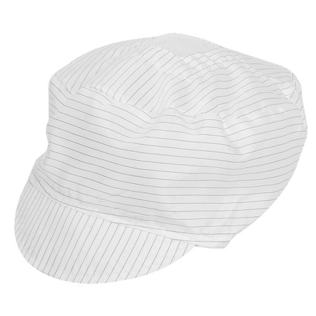 Unique Bargains White Black Stripes Print Antistatic Visor Cap Hat for - Construction Worker Hat Craft