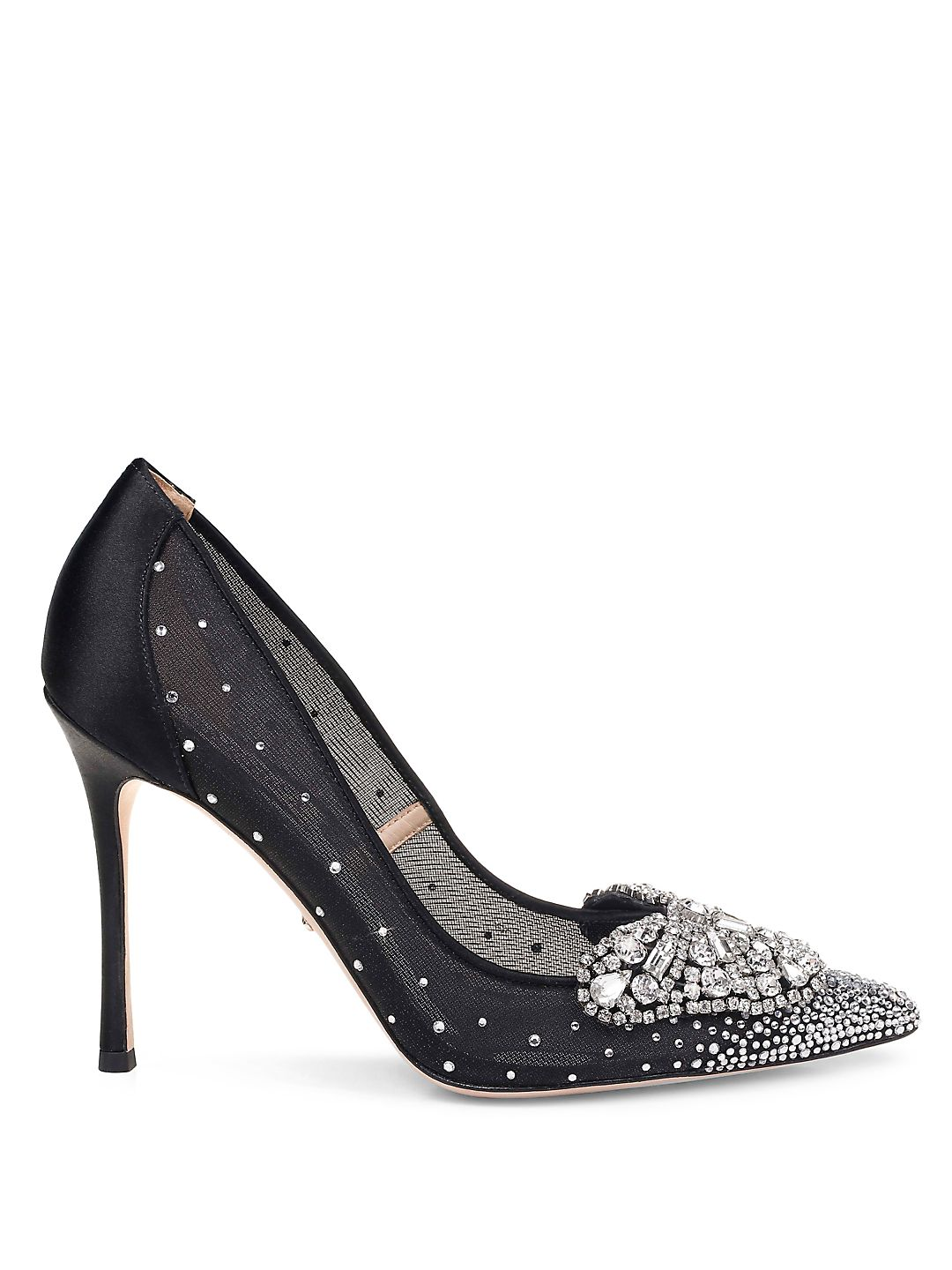 Quintana Embellished Satin Stiletto Pumps