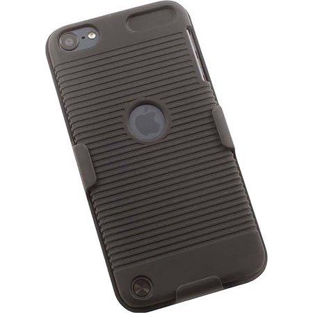 BLACK RUBBERIZED HARD CASE + BELT CLIP HOLSTER COMBO FOR iPOD TOUCH 5 6 7 (Ipod Case Drake)