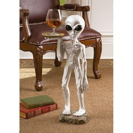 Home Design Glass Sculpture (Design Toscano Roswell, the Alien Butler)