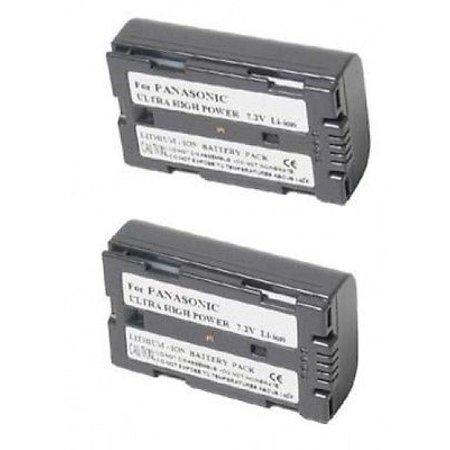 2 Batteries for Panasonic CGR-D08A, Panasonic CGR-D08A/1B, Panasonic CGR-D08R, Panasonic CGR-D08S, Panasonic CGR-D08SE/1B 1b Camcorder Battery