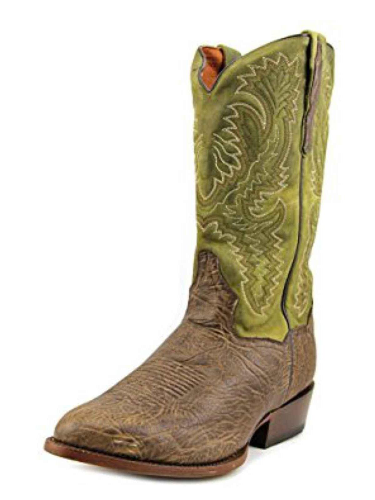 """Dan Post Men's 13"""" Green Round Toe Cowboy Boot, DP2195 by DAN POST"""