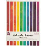 "Colorbok 8.5"" Water Color Rainbow Cardstock paper Pad, 50 Piece"