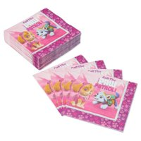 American Greetings Paw Patrol Girl Lunch Napkins, 50-Count