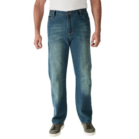 Liberty Blues Men's Big & Tall Relaxed-Fit Side Elastic 5-Pocket Jeans