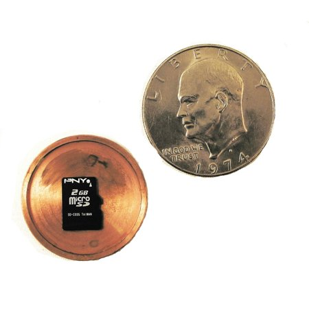Spy Gear Safe (Micro SD Card Hidden Hollow Covert Spy Coin Diversion Safe - Authentic International and US)