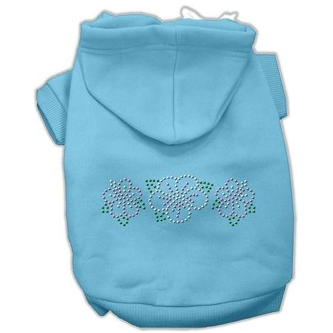 Mirage Pet Products 54-79 LGBBL Tropical Flowers Rhinestone Hoodies Baby Blue L - 14