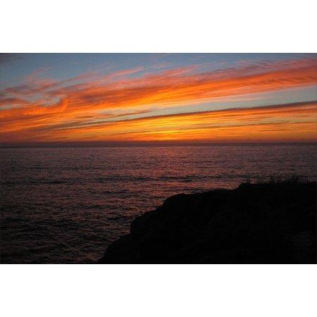 LAMINATED POSTER Orange San Diego Sky Ocean Sea Sunset Clouds Poster Print 24 x 36 ()