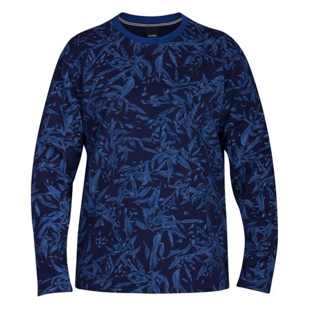 NEW Blue Mens Size Small S Rogue Floral-Print Crewneck Sweater