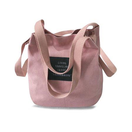 Women Canvas Totes Shoulder Pack Preppy Style Girls Handbag Crossbody Messenger Pack