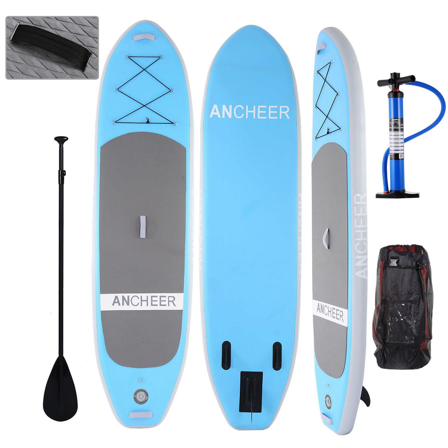 The Newest 10ft Inflatable Stand Up Paddle Board iSUP with Adjustable Paddle Backpack Hand Pump HFON by